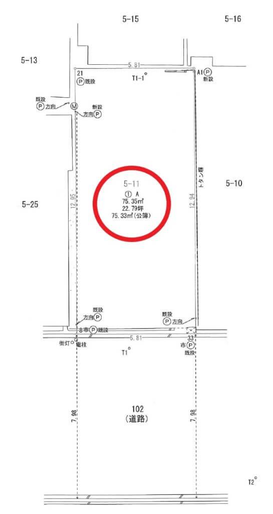 弁天町貸土地 測量図