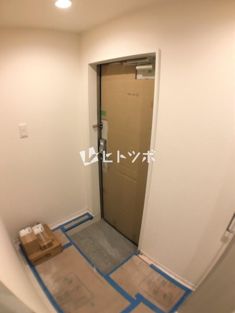 ハーモニーテラス中宮玄関(建築途中)