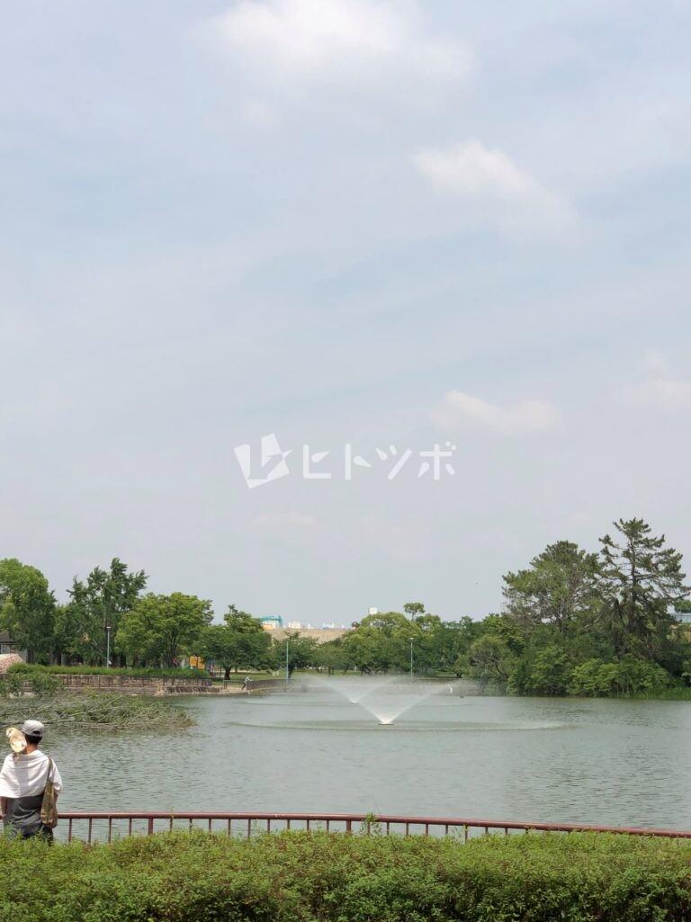 城北公園の噴水