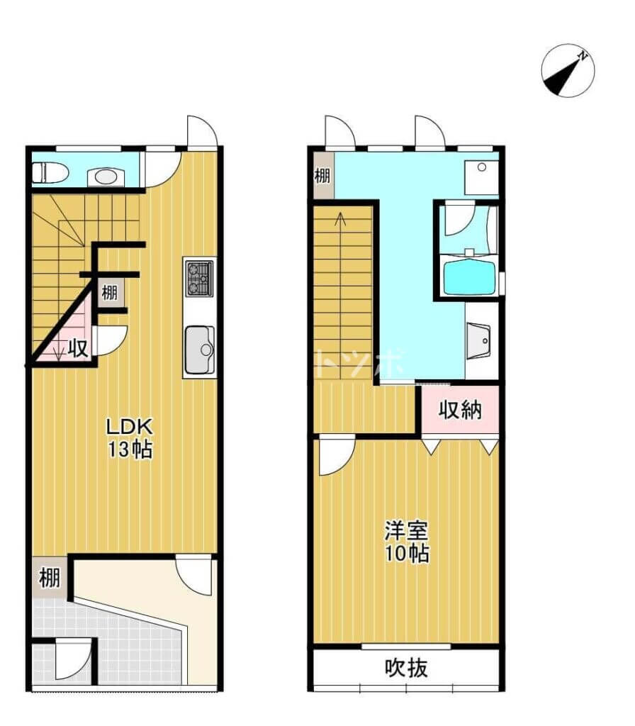 赤川3丁目貸家(間取り図)