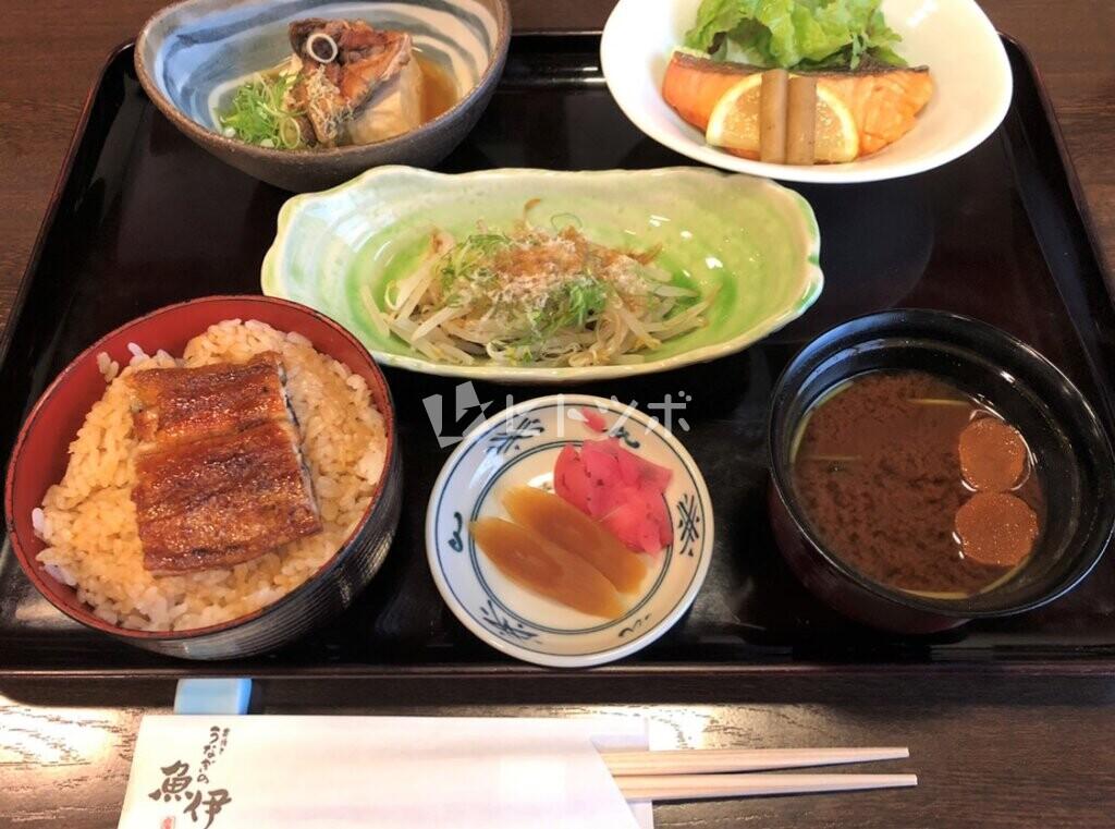 魚伊日替わり定食(ミニうな重変更)